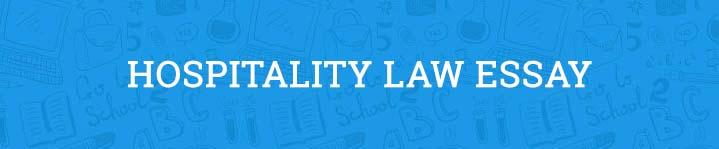 hospitality law essay