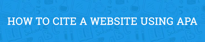 how to cite a website apa