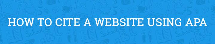 how to cite a website apa