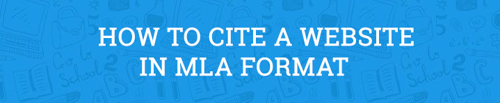 how to cite a website mla