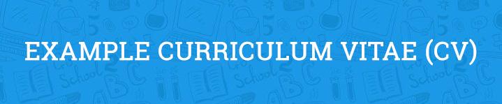Example Curriculum Vitae (CV)