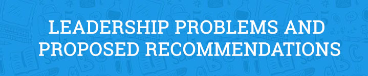Leadership Problems and Proposed Recommendations Essay