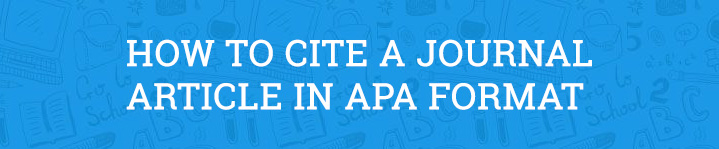 how to cite a journal article apa