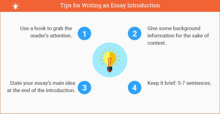 how to write an essay introduction