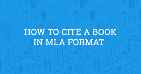 mla format cite a book