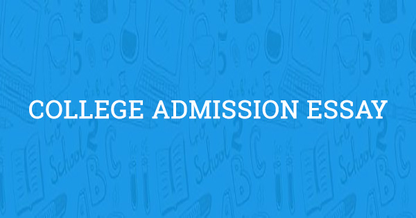 College admission writing service