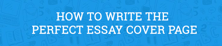 essay cover page